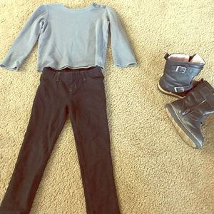 4T girls outfit size 8 shoe